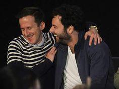 Adam Brown and Aidan having a giggle.