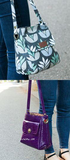 Ollie Bag PDF Pattern ( – purses and handbags diy Denim Bag Patterns, Handbag Patterns, Bag Patterns To Sew, Pdf Patterns, Pattern Sewing, Fabric Handbags, Fabric Purses, Diy Bags Purses, Purses And Handbags
