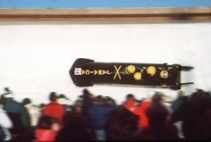 Jamaica competes in the Four-man Bobsleigh during the 1988 Olympic Winter Games, held at Calgary. Team members Chris Stokes, Dudley Stokes, Devon Harris and Michael White were the first from their country to compete in the sport. (BOB THOMAS / GETTY IMAGES)