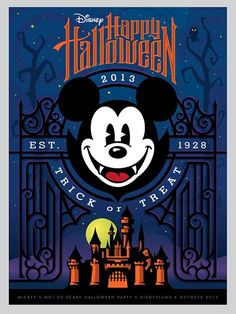 Disney Mickey Mouse Halloween Poster 2013. By Torch Creative