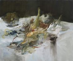 "Lara Viana 'Untitled (table 6)' oil on canvas, 2010 (50×60/20""×24"") photo by Andy Keate. loop to the first image"