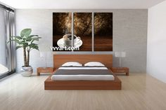 Bedroom Decor, 3 Piece Wall Art, Tea Cup Multi Panel Art, Home Decor