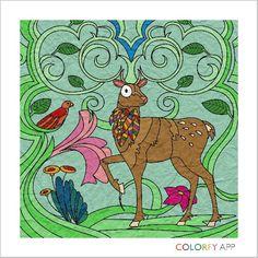 Deer. Colorfy.