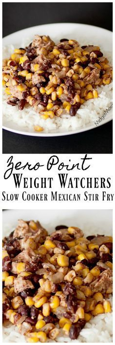 This Slowcooker Mexican Stir Fry has 0 weight Watchers points! It is also one tasty dinner! #weightWatchers #WeightWatchersRecipes #Slowcooker #dinner #stirfry