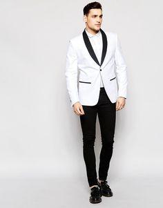 Image 4 ofAntony Morato Tuxedo Blazer in Super Slim Fit