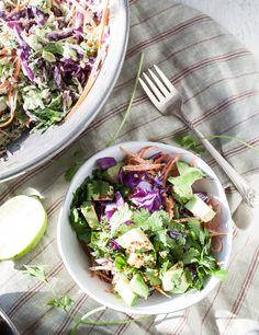 Winter Slaw with Cocoonut Sauce