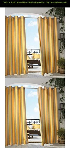 Outdoor Decor Gazebo Stripe Grommet Outdoor Curtain Panel #decor #technology #fpv #tech #racing #parts #outdoor #kit #gadgets #gazebo #shopping #drone #stripe #products #plans #camera
