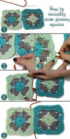 Joining granny squares                                                                                                                                                                                 More