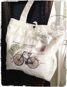 retro biciclette shopping bag