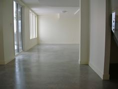 Sealed and waxed concrete floor