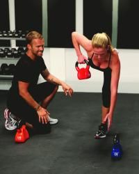 kettle bell workout that will kick your butt, thighs and stomach.