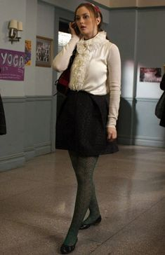 """Blair _school uniform. Season 2 Episode 14 """"In The Realm Of The Basses""""."""