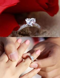 Ok I never post wedding stuff cuz it is a little pathetic but this would be the dream ring for me. A heart diamond? Duh.