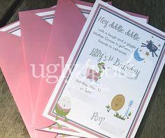 Nursery Rhyme Birthday Invitation by uglyspots on Etsy, $1.50