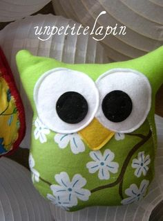 Chartreuse  Owl Buddy  Owl Pillow Softie       by unpetitelapin, $10.50