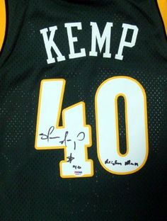 Shawn Kemp Autographed/Hand Signed Adidas Throwback Seattle Sonics Jersey Reign Man PSA/DNA by Hall of Fame Memorabilia. $241.95. This is an Adidas Throwback Green Seattle Sonics jersey that has been hand signed by Shawn Kemp. Shawn added his Reign Man inscription. It has been authenticated by PSA/DNA and comes with their sticker and matching certificate of authenticity.