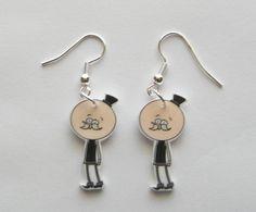 YESSSS Hand Made Regular Show Pops earrings by Murals4U on Etsy