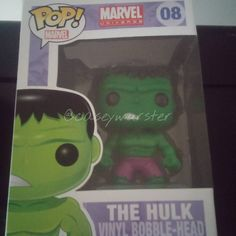 """""""Incredible Hulk Marvel Pop! is one of four recently come to my growing Funko family!! Yep, the other day I had quad-hulk-lets! Say hello to 08-Hulk...…"""""""