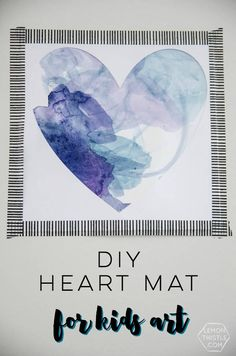 Art Projects for Kids | Create water color wall art made by your children. Use your Cricut machine or not for a fun craft idea for kids.