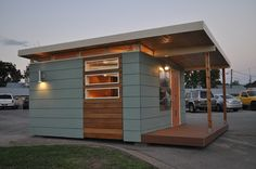 Kanga Studio: Modern 14' x 14' Dwelling - Kanga Room Systems: Models Gallery - Backyard Office-Guest House-Pool House-Art Studio-Garden Shed-Tiny House Modern and Tradtional Cottage prefab kits