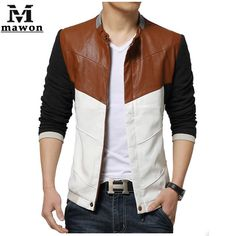 9a6b905d7fd77 Cheap men brand leather jacket, Buy Quality mens designer leather jackets  directly from China men fashion leather jacket Suppliers: Fashion Slim Men  Leather ...