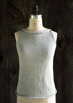 Tulip Tank Top By Purl Soho - Free Knitted Pattern - (ravelry)