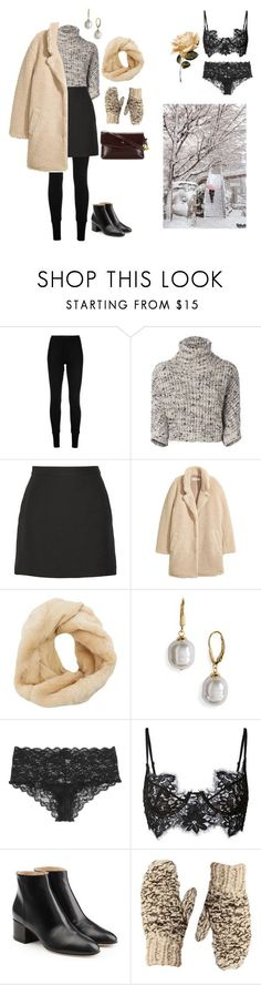 """""""Outfit for when its cold as frick outside and the snow wont stop."""" by leeforlife ❤ liked on Polyvore featuring Ms Min, Brunello Cucinelli, Valentino, H&M, Charlotte Russe, Majorica, Cosabella, For Love & Lemons, Sergio Rossi and Shibuya #sergiorossioutfit"""