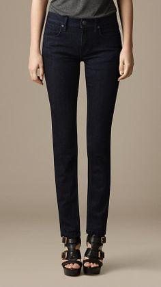 Earlham Deep Indigo Straight Fit Jeans   Burberry