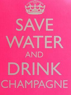 Ahorra agua y bebe champagne!!