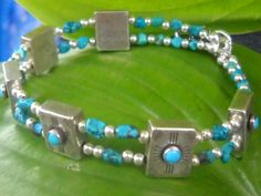 Sterling  Turquoise Nugget Artisan created by Jadelsjewelry, $78.00