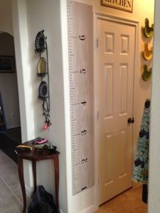 Pottery Barn Knock off Growth Ruler! - Our Coupon Adventures