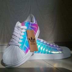 Wheretoget - Adidas holographic sneakers