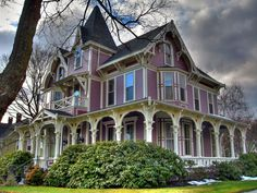 Goshen, NY  This wonderful towered eclectic victorian boasts a number of styles ranging from Italianate to Stick Style and is beautifully preserved