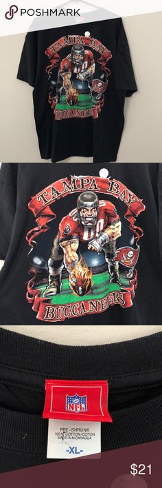 Vintage NFL Tampa Bay Buccaneers T-Shirt Size XL Vintage NFL Tampa Bay Buccaneers T-Shirt Size XL, Brand New, Never Worn or Used⚡️WILL SHIP IN ONE DAY⚡️All bundles of 2 or more receive 20% off. Closet full of new, used and vintage Vans, Skate and surf companies, jewelry, phone cases, shoes and more. NFL Shirts Tees - Short Sleeve