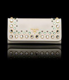 prada clutch with gems
