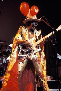 """Ten reasons why Bootsy is a funk icon. including playing on the James Brown classic """"Super Bad,"""" and """"Flashlight"""" by Parliament. Afro, Soul Music, Music Love, 70s Music, Music Lyrics, Black Music Artists, Get Down On It, Bootsy Collins, Jazz"""