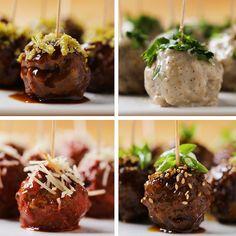 Party Meatballs 4 ways