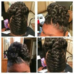 updo hairstyles for black women Hair Tutorials – - Hair Styles Black Hair Updo Hairstyles, Sporty Hairstyles, Braided Hairstyles For Black Women, Braided Hairstyles For Wedding, African Braids Hairstyles, Hairstyle Ideas, Beautiful Hairstyles, Braided Updo, Protective Hairstyles