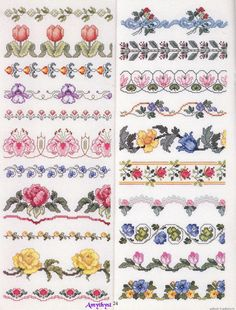 Flower borders. No chart but pretty clear.   Bordure