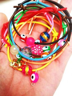 happy plastic bracelets