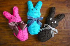 These Candy Bunnies were inspired by Peeps. I made them for my 3 sweeties for Easter last year.