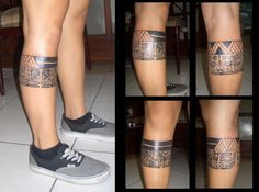 leg band tattoos - Google Search