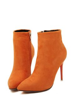 Trendy Suede Leather Women Boots Point Toe Pumps Shoes