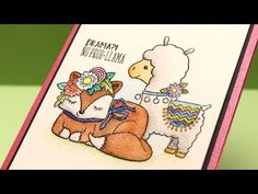 No Prob-llama – Dot Card Watercoloring – Sandy Allnock Card Making Techniques, Art Techniques, Sandy Allnock, Art Watch, Colouring Techniques, Watercolour Tutorials, Animal Cards, Art Pieces, Dots