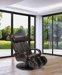 HT5040 Contemporary SwivelBase Massage Chair  Full Body Stretch  180 Recline  Espresso *** Click image to review more details.