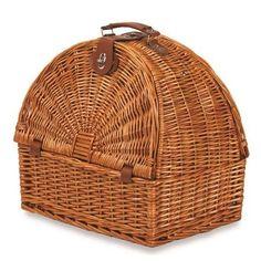 Picnic Plus Athertyn 2 Person Picnic Basket - Plaid Lining, Brown