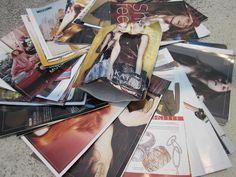 Envelopes made of old fashion magazines :)