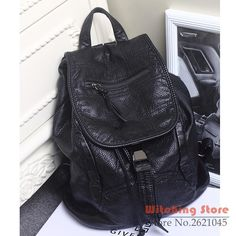 100.96$  Watch now - http://alimni.worldwells.pw/go.php?t=32763452758 - Perfect# 2016 new winter washed backpack bag retro Korean leather FREE SHIPPING