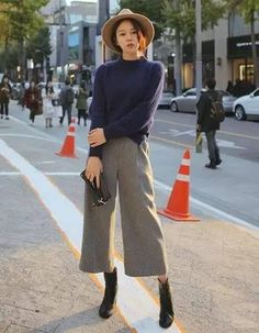 短靴搭配阔腿裤:最藏肉的穿搭术!_时尚搭配师_头条易读