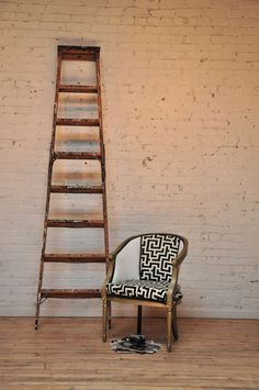 Barrel Chair-Vivian Bucket Chairs, Barrel Chair, Ladder Decor, Diy Furniture, Black And White, Home Decor, Ideas, Products, Decoration Home